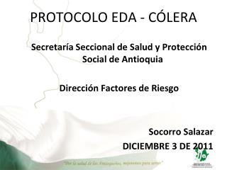 PROTOCOLO EDA - CÓLERA