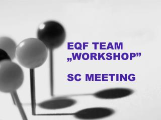 "EQF TEAM ""WORKSHOP"" SC MEETING"