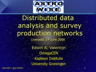 Distributed data analysis and survey production networks  Liverpool, 14 June 2008