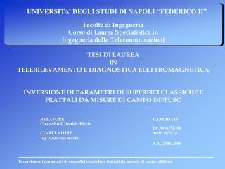 """UNIVERSITA' DEGLI STUDI DI NAPOLI """"FEDERICO II"""""""