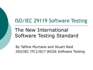 ISO/IEC 29119 Software Testing