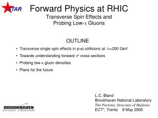 Forward Physics at RHIC Transverse Spin Effects and Probing Low- x  Gluons
