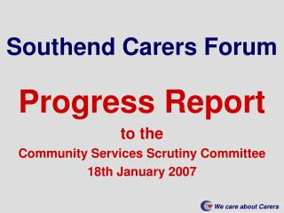 Southend Carers Forum