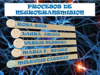 PROCESOS DE NEUROTRANSMISION