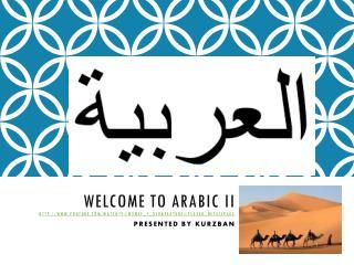 Why learn Arabic?