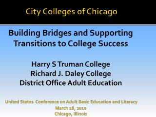 COABE/ ProLiteracy/ IACEA 2010 Conference Chicago, Illinois - March 18, 2010