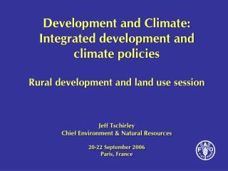 Rural development, land use context