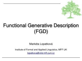 Functional Generative Description (FGD)