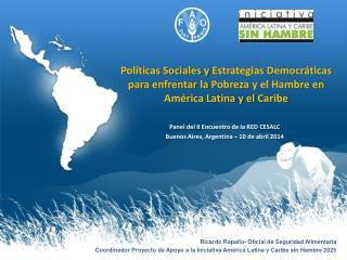 Panel del II Encuentro de la RED CESALC Buenos Aires, Argentina – 10 de abril 2014