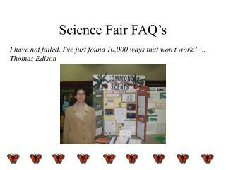Science Fair FAQ's