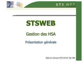 STSWEB Gestion des HSA Présentation générale