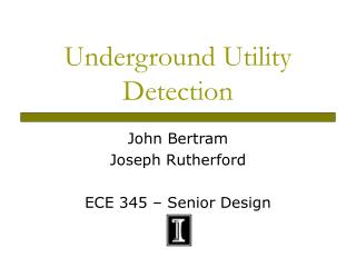 Underground Utility Detection