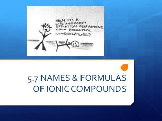 5.7 NAMES & FORMULAS OF IONIC COMPOUNDS