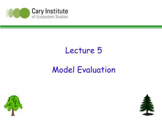 Lecture 5 Model Evaluation
