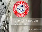 CHURCH  DWIGHT CO., INC.