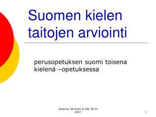 Suomen kielen taitojen arviointi