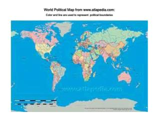 World Political Map from atlapedia: