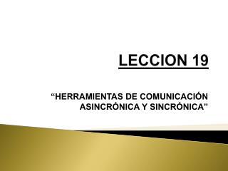 LECCION 19