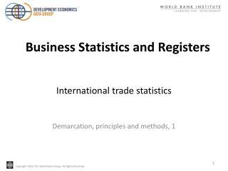 International trade statistics