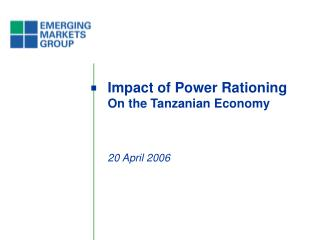 Impact of Power Rationing On the Tanzanian Economy