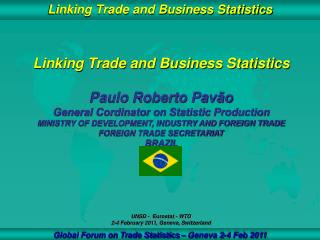 Linking Trade and Business Statistics Paulo Roberto Pavão