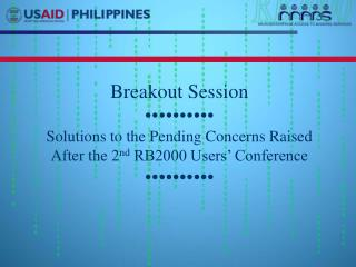 Breakout Session ••••••••••