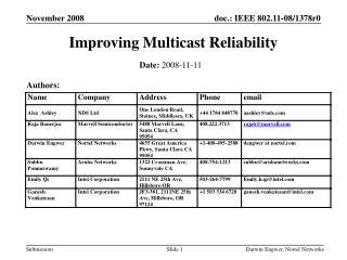 Improving Multicast Reliability
