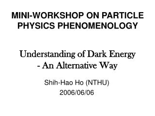 Understanding of Dark Energy - An Alternative Way
