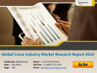 Global Crane Market Size, Industry, Analysis, Share 2014