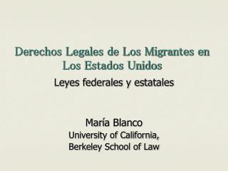 Derechos Legales de Los Migrantes en Los Estados Unidos