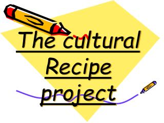 The cultural Recipe project