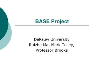 BASE Project