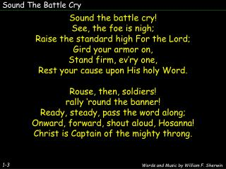 Sound The Battle Cry