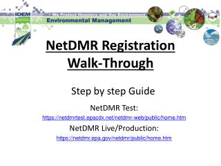 NetDMR Registration Walk-Through