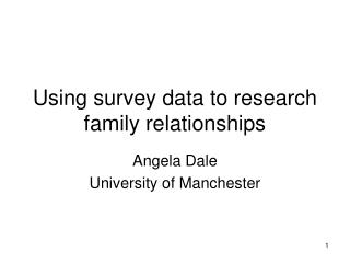 Using survey data to research family relationships