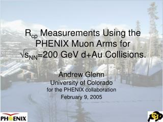 R cp  Measurements Using the PHENIX Muon Arms for  √ s NN =200 GeV d+Au Collisions.