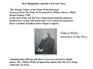 New Hampshire and the Civil war Navy