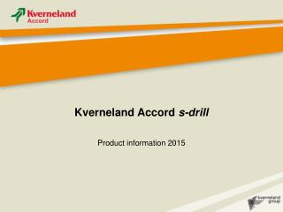 Kverneland Accord  s-drill