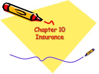 Chapter 10 Insurance