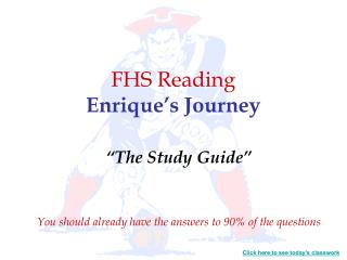 FHS Reading Enrique's Journey