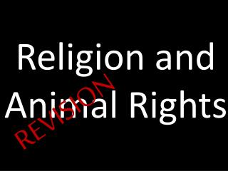 Religion and Animal Rights