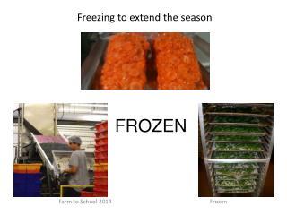 Freezing to extend the season