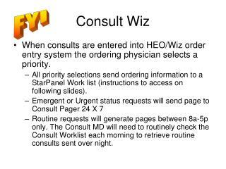 Consult Wiz