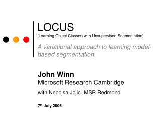 LOCUS (Learning Object Classes with Unsupervised Segmentation)