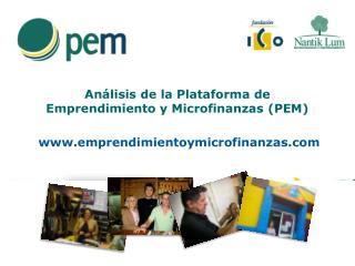 Análisis de la Plataforma de  Emprendimiento y Microfinanzas (PEM)