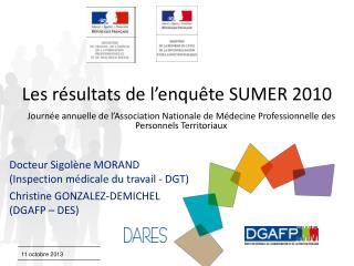 Les résultats de l'enquête SUMER 2010