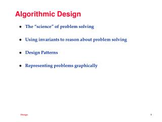 Algorithmic Design