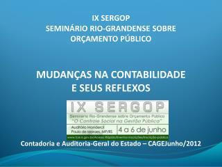 IX SERGOP SEMINÁRIO RIO-GRANDENSE SOBRE ORÇAMENTO PÚBLICO