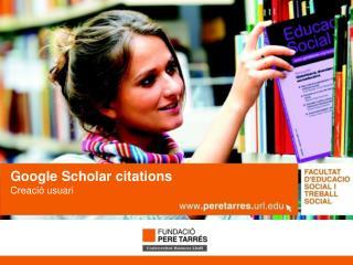 Google  Scholar citations Creació usuari