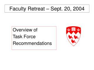 Faculty Retreat – Sept. 20, 2004